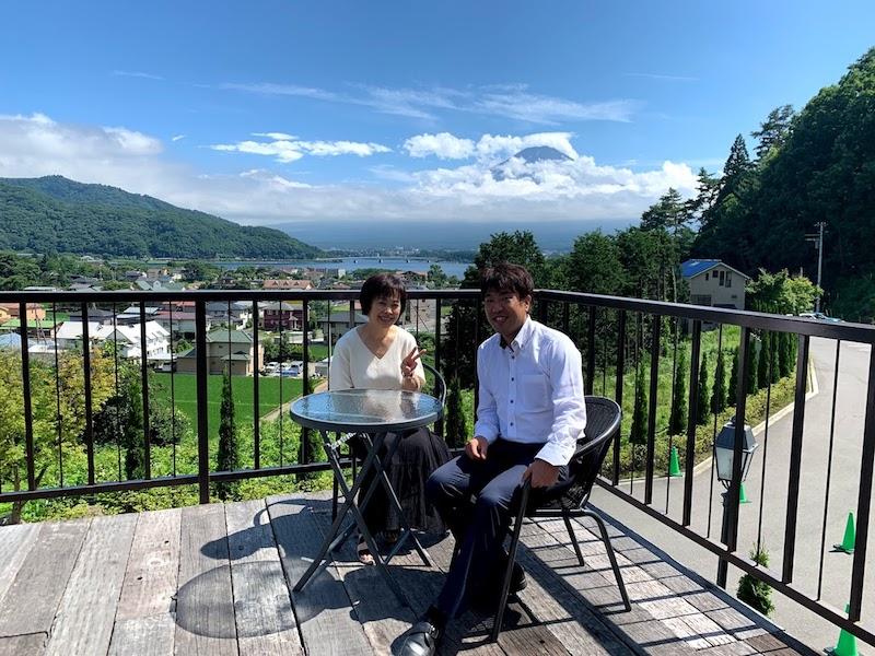 富士山を一望できる河口湖へ